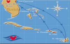 Disney Cruise Line 7 Night Eastern Caribbean Route
