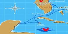 Disney cruise line 7 night western caribbean cruise route